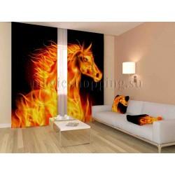 ФотоШторы Огненный конь Код 1214