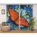 ФотоТюль Бабочка в цветах Код 753
