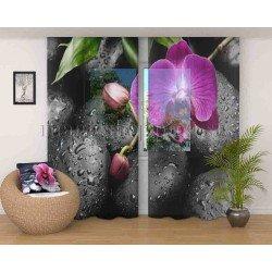 ФотоТюль Орхидея на камнях Код 209