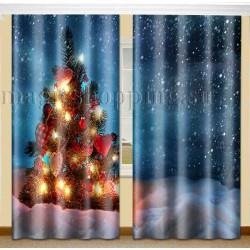 ФотоШторы Рождественские огни Код 2156