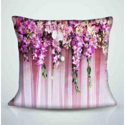 Фотоподушка Цветы на ткани Код p2360