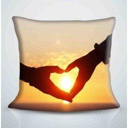 Фотоподушка Сердце в ладошках