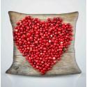 Фотоподушка Сердце из клюквы