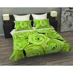 Фотопокрывало 3D Зеленые розы