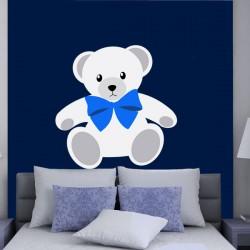 Наклейка декоративная Белый медвежонок