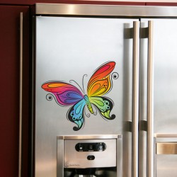 Наклейка декоративная Радужная бабочка