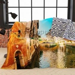 """Плед-покрывало """"Солнечный день в Венеции"""", 145*220 см арт. ПЛФЛ004-02609"""