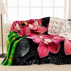 """Плед-покрывало """"Отдых с орхидеями"""", 145*220 см арт. ПЛФЛ004-04180"""