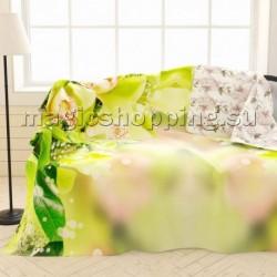"Плед-покрывало ""Зеленая орхидея"", 145*220 см арт. ПЛФЛ004-09234"
