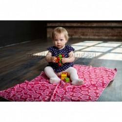 """Плед флисовый """"Розовые звезды"""", 70*110 см арт. ПЛФЛ039-01385"""