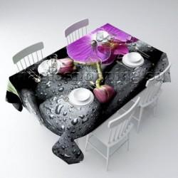 """Скатерть """"Орхидея на камнях"""" арт. 00209"""