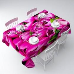"""Скатерть """"Розовые тюльпаны"""" арт. 00256"""