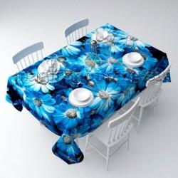 """Скатерть """"Букет из голубых цветов"""" арт. 01515"""