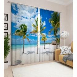 """Фотошторы """"Гавайский пляж"""" арт. 10779"""