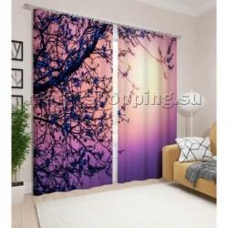 """Фотошторы """"Фиолетовый закат"""" арт. 10794"""