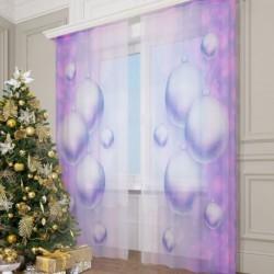 Фототюль Фиолетовые шарики, 145*260