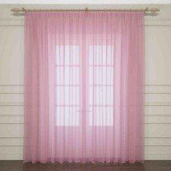 Тюль розовый Код 03761