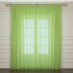 Тюль зеленый Код 3759