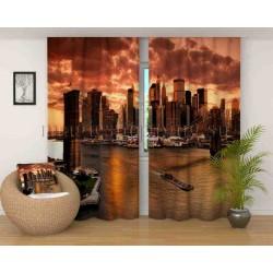 Фотошторы Спокойный вечер в Манхеттене Код 2724