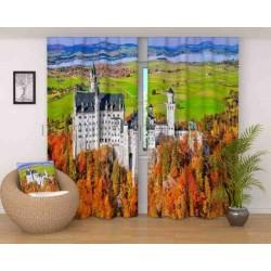 Фотошторы Осенний замок Код 2322