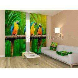 ФотоШторы Тропические попугаи Код 1181