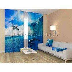 ФотоШторы Стая дельфинов Код 1177